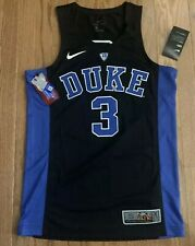 Men's Nike #3 Duke Blue Devils Black Authentic Basketball Jersey Small NWT $120