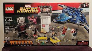 LEGO Marvel Super Heroes Airport Battle Captain America Civil War 76051 Retired