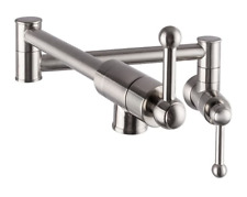 Lordear Pot Filler WallMount Kitchen Faucets Stainless Steel FoldingStretchable