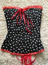 Diva Corsets Catwalk Black Spotty Corset, Size S, Very Good Condition