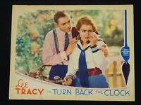 TURN BACK THE CLOCK 1933 * LEE TRACY * MAE CLARKE * 3 STOOGES * EXTREMELY RARE!!
