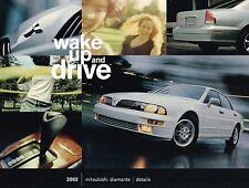2002 Mitsubishi Diamante Tabla de colores/Interior Cuero/Tela Folleto