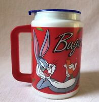 Looney Tunes Bugs Bunny Walmart 1994 Collector Series Coca Cola Red Thermal Mug