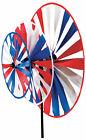 Patriotic Triple Pinwheel Windspinner