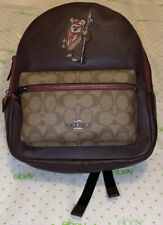 New Coach x Star Wars Backpack Ewok F88014 Brown Leather/Canvas