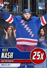 GO BOOSTS RICK NASH Topps NHL Skate Digital Card