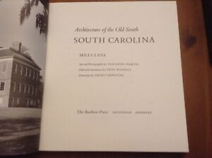 Book architecture of the old south south carolina