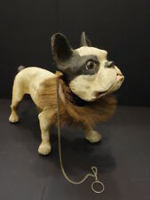 """All Original FRENCH BULLDOG With Growler 17""""3/4 Pull Along Toy 1950"""