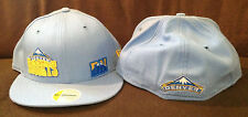 Denver Nuggets NEW ERA 59FIFTY Fitted Hat NBA Baby Blue Throwback SIZE 7 1/8