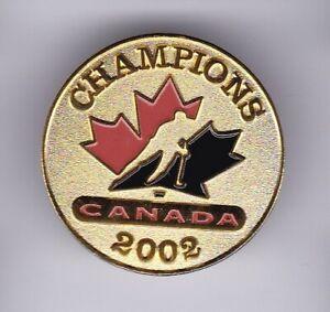 Team Canada 2002 Champions Pin