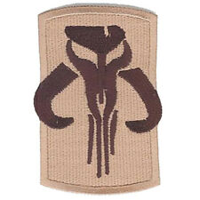 STAR WARS BOBA FETT MANDALORIAN SYMBOL IRON-ON MATERIAL PATCH