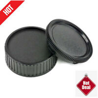 2pcs/set Rear Lens and Body Cap Cover for Leica M LM camera Black