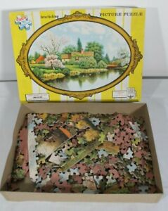 TUCO Spring Blossoms Interlocking Picture Puzzle Cameo Series #1500 Vintage