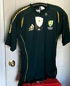 Cricket Australia Adidas Jersey Green Short Sleeve  Men's Size Small Brand New