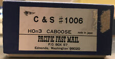 Pacific Fast Mail HOn3 Brass Caboose C&S #1006