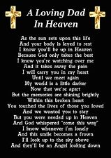 A Loving Dad In Heaven Memorial Graveside Poem Card With Free Ground Stake F224
