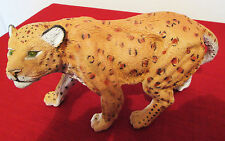 "Jaguar Figurine Wildlife Replica 9"" long"