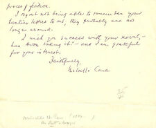 MELVILLE CANE - AUTOGRAPH LETTER SIGNED 10/25/1957