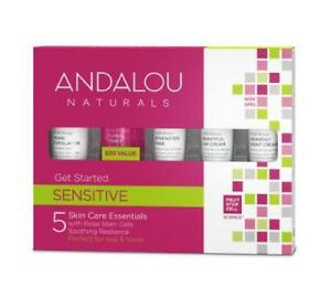 Andalou Naturals 1000 Rose Sensitive Skin Care Gift Set 5 Travel Beauty Products