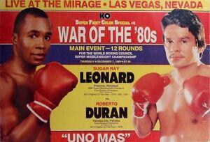 SUGAR RAY LEONARD vs ROBERTO DURAN 8X10 PHOTO BOXING POSTER PICTURE