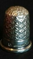 G W H & CO CHESTER 1905 SILVER FINE DECORATED LION HALLMARKED SOUVENIR THIMBLE