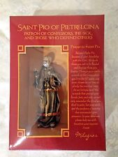 """NEW in Box, """"SAINT PADRE PIO OF PIETRELCINA 4"""" STATUE""""  by Milagros * EXQUISITE"""