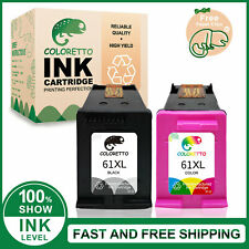 61XL Black & Color Ink Cartridge Combo Set for HP DeskJet 1012 2050 Printer