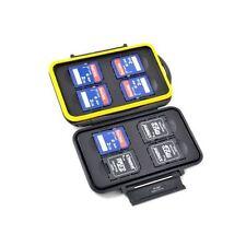 JJC MC-SD8 Memory Card Case holds 8x SD Card, Rubber Seal Waterproof Lightweight
