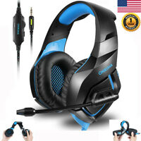 Gaming Headset Stereo Surround Headphone 3.5mm With Mic For PS4 Xbox PC Xbox One