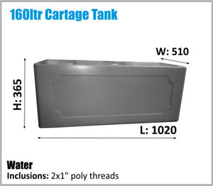 160 LTR RV UTE CARAVAN CARTAGE WATER TANK OZ MADE ASK FOR FREIGHT PRICE.