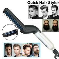 Hair Straightener Men's Brush Beard Comb Multifunctional Curling Electric Comb