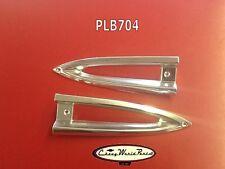 1959  CHEVROLET 59 IMPALA BISCAYNE PARK PARKING LIGHT BEZELS PAIR