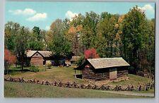 London Kentucky KY Pioneer Museum Log Barn Levy Jackson Postcard 1950s