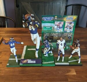 Randy Moss 12 inch Carter Culpepper Favre Mcfarlane Starting Lineups Vikings Lot