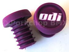 ODI BMX bicycle nylon handlebar push-in bar ends plugs - PURPLE