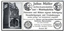 Julius Müller Leer Westrhauderfehn PELZWAREN MÜTZEN Historische Reklame von 1932