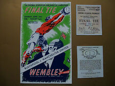 1948 FA Cup final programme & Ticket Brand new Manchester United v Blackpool