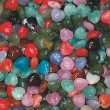 "15 Heart Gem Stone - like Beads Beads Plastic 1/2"" size"