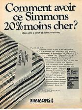 PUBLICITE  1967   SIMMONS   matelas