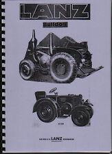 Lanz Bulldog L/N/P Tractor Operator Instruction Manual