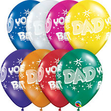 "FATHER'S DAY PARTY SUPPLIES BALLOONS 10 x 11"" DAD YOU'RE THE BEST LATEX BALLOONS"