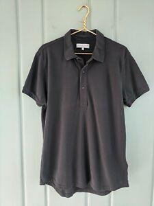 Orlebar Brown Mens XL Sebastian Tail Polo Shirt Gray 100% Cotton Tailored Fit