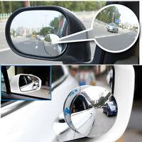 2pcs Blind Spot Removal Mirror Car Wide-angle Convex Mirror Blind Spot Mirror UR
