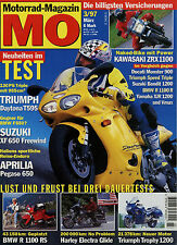 mo 3/97 1997 Aprilia Pegaso 650 Kawasaki ZXR 1100 Suzuki XF 650 Firewind Daytona