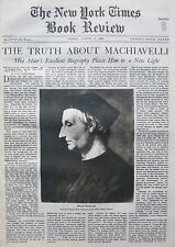 Machiavelli And His Times - Erskine Muir 1936 August 9 Ny Times Book Review