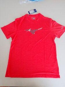 Mens Mizuno Drylite IMP Core Graphic TEE tshirt Active Wear Mars Red Size M