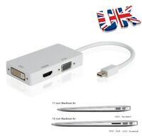 3 in 1 Mini Displayport Thunderbolt HDMI/DVI/VGA Adapter For Macbook Pro Air Mac