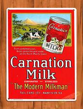 "TIN SIGN ""Carnation Milk""  Food wall decor"