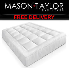 Mason Taylor Bedroom Bed Double Size Bamboo Matress Topper TOPPER-BAM-D