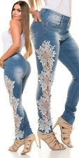Klassische Hosengröße 42 Damen-Jeans im Jeggings -/Stretch-Stil